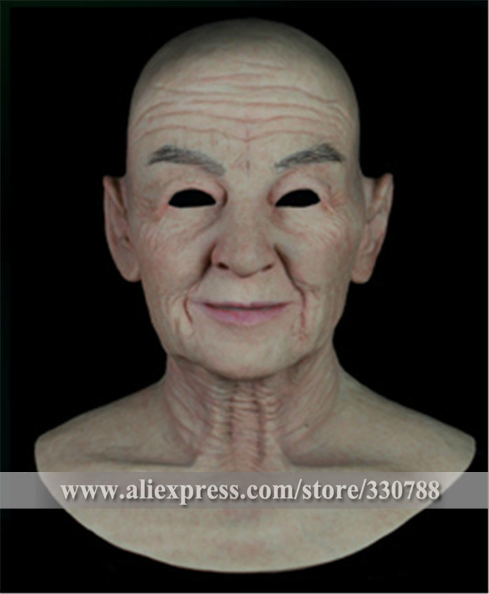 [SF-N9] realistic silicone masks, old man mask, mens masquerade masks christmas, full head halloween mask - Guangzhou Angel Company store