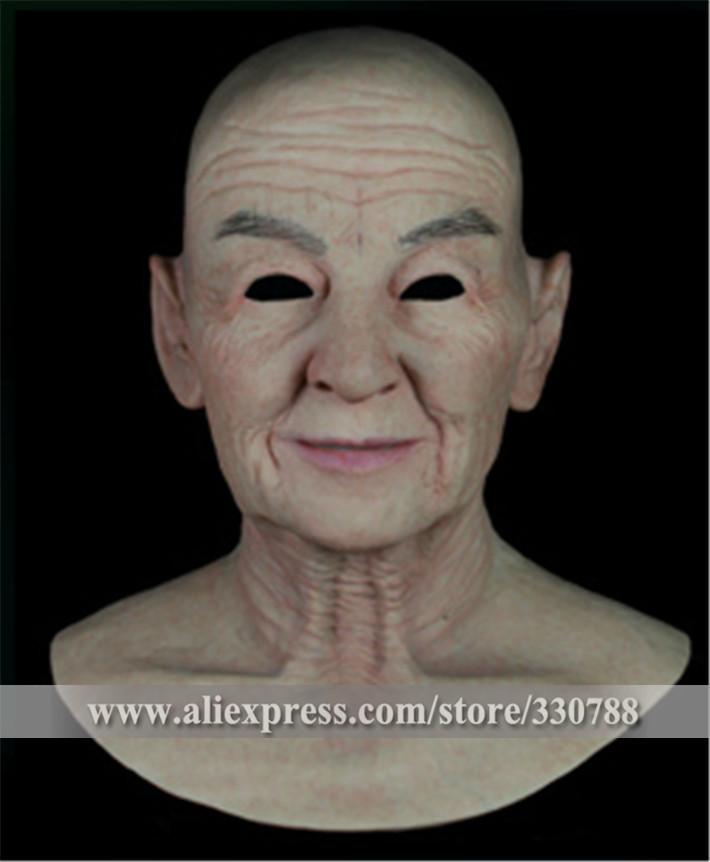 [SF-N9] realistic silicone masks, old man mask, mens masquerade masks christmas, full head halloween mask - Guangzhou Angel Company store