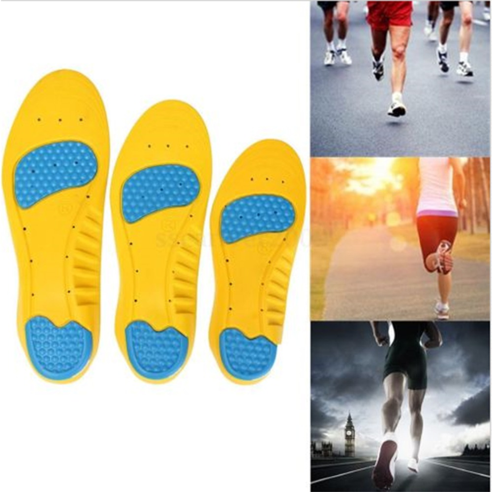 2017 New 1 pair Memory Foam Orthotics Arch Pain Relief Support Shoes Insoles Insert Pads Foot Care Tool L Size