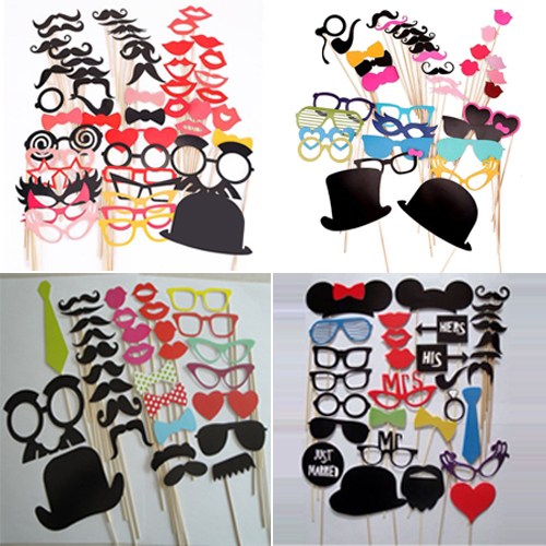 DIY Photo Booth Props Hat Mustache lip glasses On A Stick Wedding Birthday Party(China (Mainland))