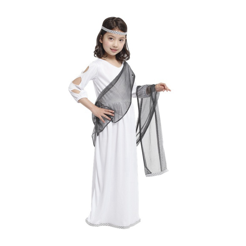 Factory Direct Gift Tower Girls Roman Princess Child Halloween Costume Fantasia Carnival Cosplay Fancy Party Dress(China (Mainland))