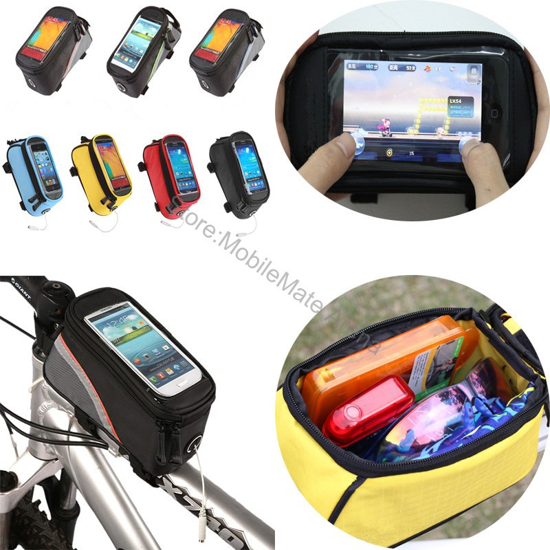 Bike Bicycle Mobile Phone Waterproof Case Cover Motorcycle Cycling Holder Pouch Bag For Samsung Galaxy J5 S6 S7 Edge/Lg G5 Moto(China (Mainland))