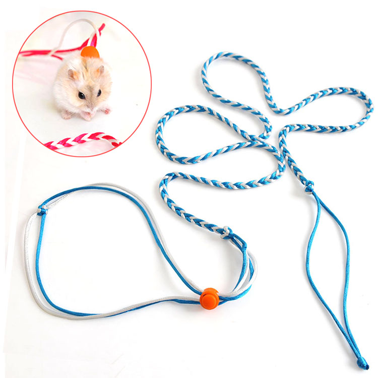 Colorful Small Animal Pet Leash Rope 140/200cm Long Adjustable Rat Gerbil Hamster Leash Pet Supplies Products for Animals(China (Mainland))