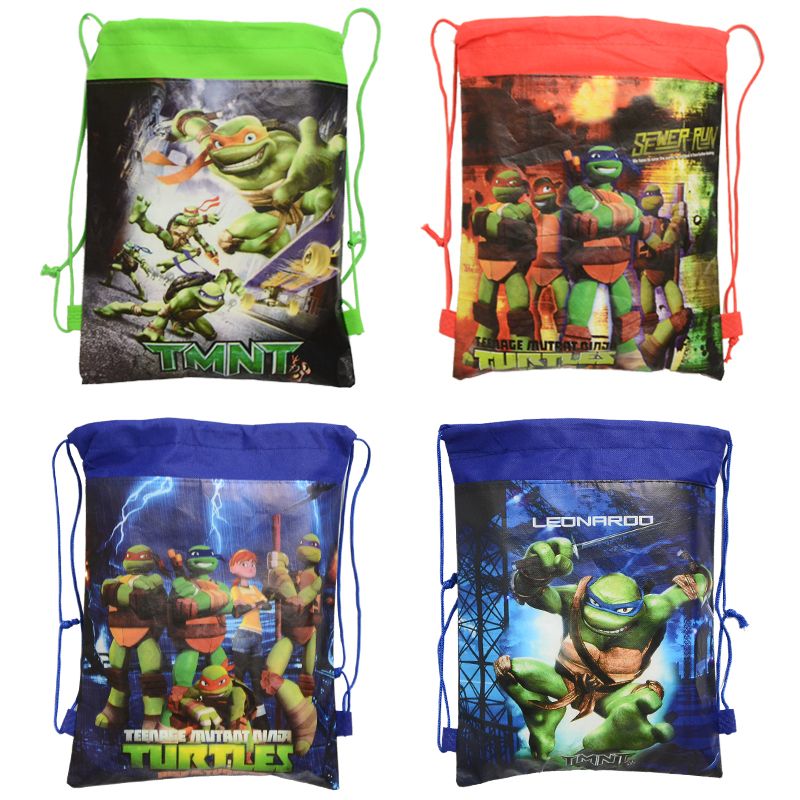 1pic Teenage Mutant Ninja Turtles School Bags Teenage Mutant Ninja Turtles Kids Drawstring Backpack Bag For