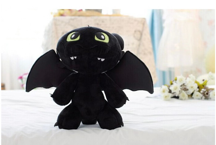 20cm30cm Anime Soft Toys How to Train Your Dragon Plush Toys Doll Toothless Dragon Aberdeen Night Fury Cheap Toys Christmas Gift(China (Mainland))