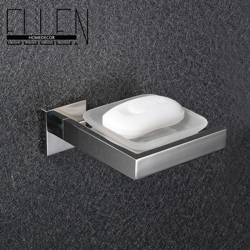 Buy Free Shipping Wall Mounted Soap Dish Stainless Steel Holder Square Glass