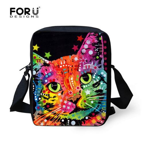 Супер котенок милые зверек дети мешок школы для девочек каваи кошка школьный Mochila ...
