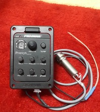 New  presys blend 301 Dual Mode Guitar Preamp EQ Tuner Piezo Pickup Equalizer System With Mic(China (Mainland))