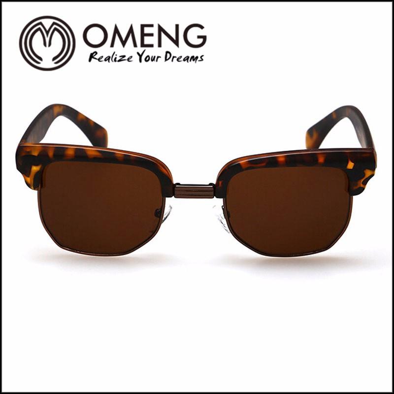 Fashion Vintage Sunglasses Retro Cat Eye Semi-Rim Round Sunglasses