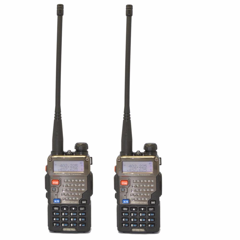 2pcs New BaoFeng UV-5RE+Plus Black two way radio dual band 136-174&400-520MHz cheap walkie talkie with free shipping(China (Mainland))