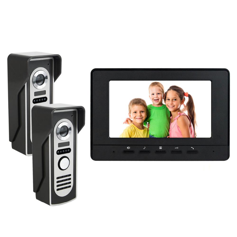 "1 PC 7"" LCD Video Intercom Door Phone Wired Intercom Doorbell IR Camera Monitor for Home Villa F4431(China (Mainland))"