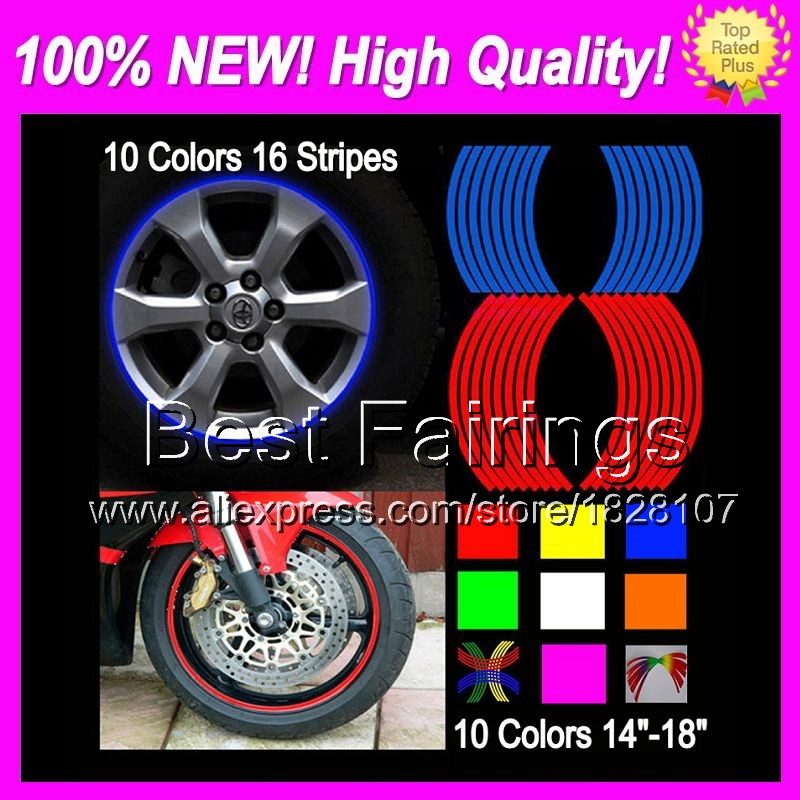 Wheel Rim Decals Stickers For SUZUKI GSXR750 06-07 GSXR 750 K6 750 GSX R750 GSX-R750 K6 06 07 2006 2007 4B93 Wheel Rim Sticker(China (Mainland))