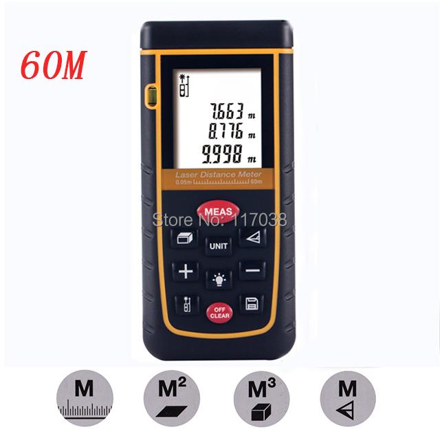 High Laser Distance Meter 60m Range finder Handheld Rangefinder Intelligent Meter Level Bubble Measure Function