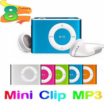 Free Shipping (10 pcs/lot) Portable Metal Mini Clip MP3 Player With Micro TF/SD Card Slot, Without Earphone,USB Cable,Retail Box