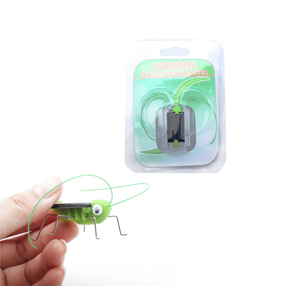 LUFY Solar Power Energy Crazy Grasshopper Cricket Kit Kids Toy Solor Toys(China (Mainland))