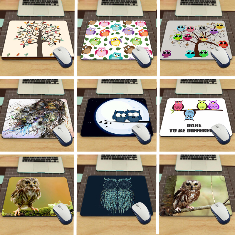 Funny Owl Animal Desk aming Mouse Pad Size (22x18x0.2cm)(China (Mainland))
