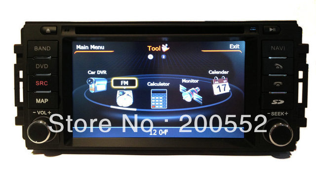 "New Arrival-6.2"" in dash car DVD Player for Chrysler Sebring/Dodge/Jeep with GPS DVB-T(MPEG-2)BT RDS PIP IPOD SWC 3G USB host"