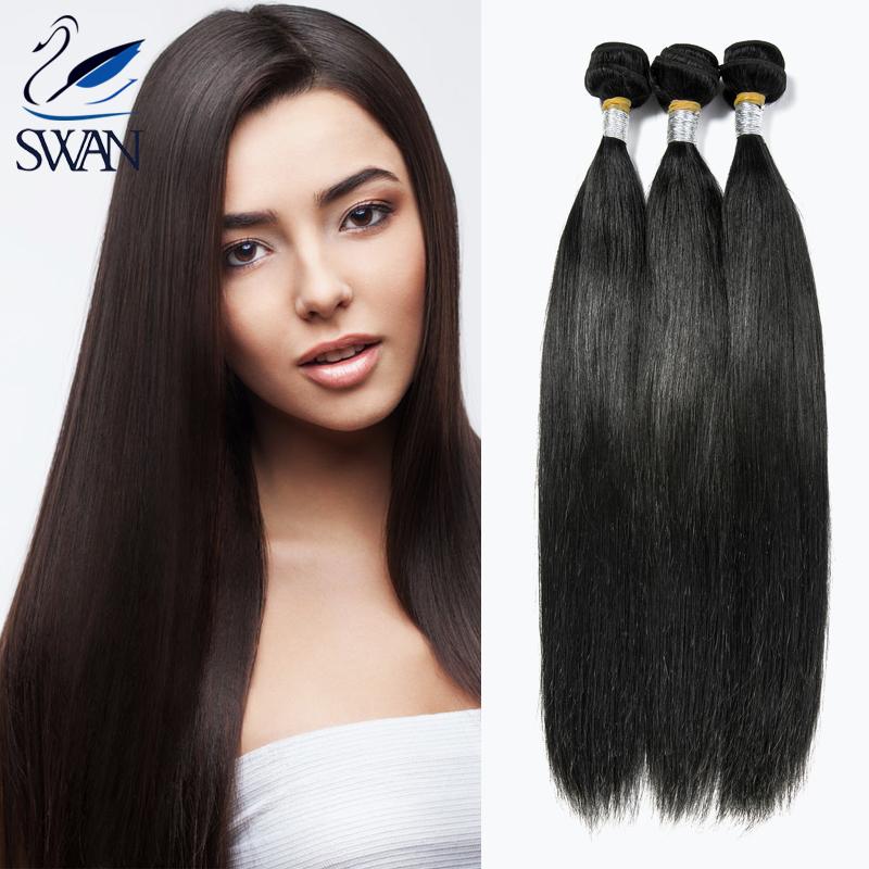9A Grade Virgin Unprocessed Human Hair 4 Bundles Brazilian Straight Hair Weave Mocha Hair Brazilian Straight SYSTNC