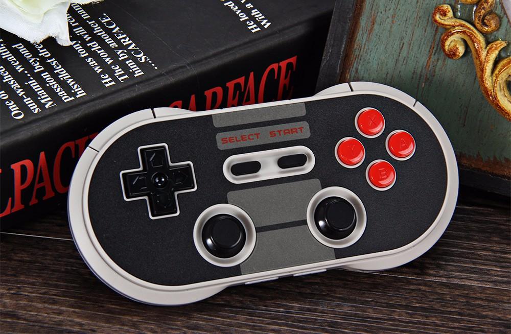 ถูก 8 Bitdo NES30โปรไร้สายบลูทูธตัวควบคุมเกมคู่คลาสสิกจอยสติ๊กGamepadเครื่องคอมพิวเตอร์Macลินุกซ์สำหรับiOS A Ndroidมาร์ทโฟนVRกล่อง