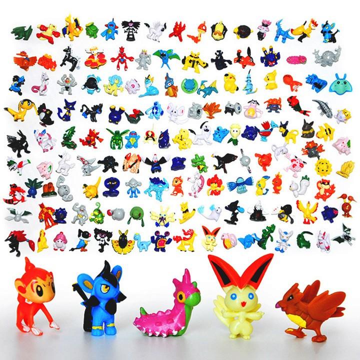 FreeShipping Japanese Pokemon figures set 144pcs poke mon pikachu charizard figurine figuras doll lot kids party supply decor(China (Mainland))