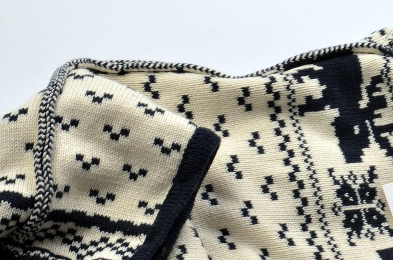 Скидки на 2016 Осенью ребенок снег олень хлопка восхождение одежды младенца вязать теплые тепловой Свитер одежда подняться ребенка свитер комбинезоны