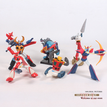 Free Shipping Anime Cartoon Mazinger Z PVC Action Figure Model Collection Toys Dolls 6pcs/set OTFG090