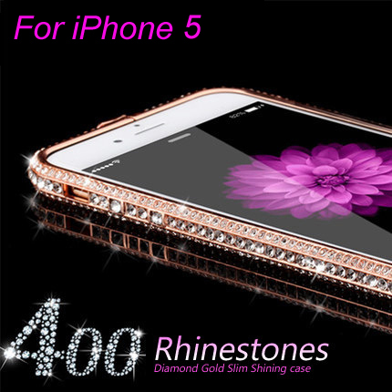 Phone Cases for iPhone 5 Frame Luxury Crystal Rhinestone Bumper Mobile Phone Cases for iphone 5S New Arrival(China (Mainland))
