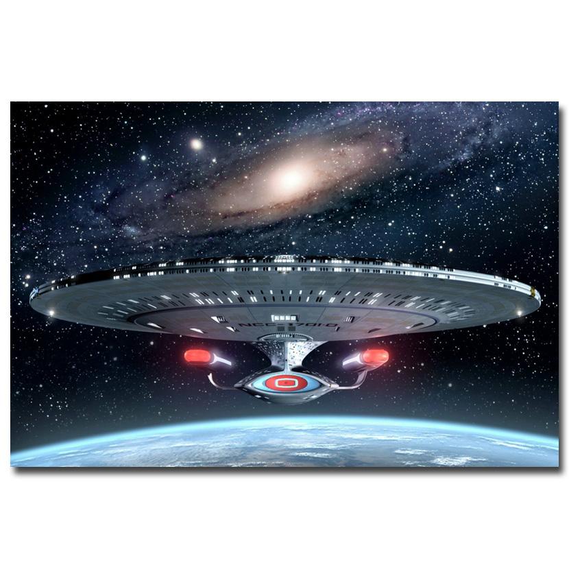 "Art-Story- Star Trek Classic Movie Art Silk Fabric Poster Print Uss Enterprise Travel 12x18 20x30 24x36"" 005(China (Mainland))"