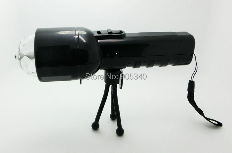 New product! DC5V 3W LED flashlight,white color flashlight +RGB colourful disco stage light dual use with tripod(China (Mainland))
