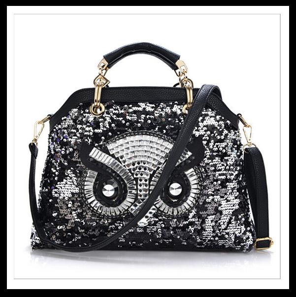 Fashion women bags leather handbag cartoon bag owl shoulder bags women messenger bag bolsa feminina sac a main femme de marque(China (Mainland))