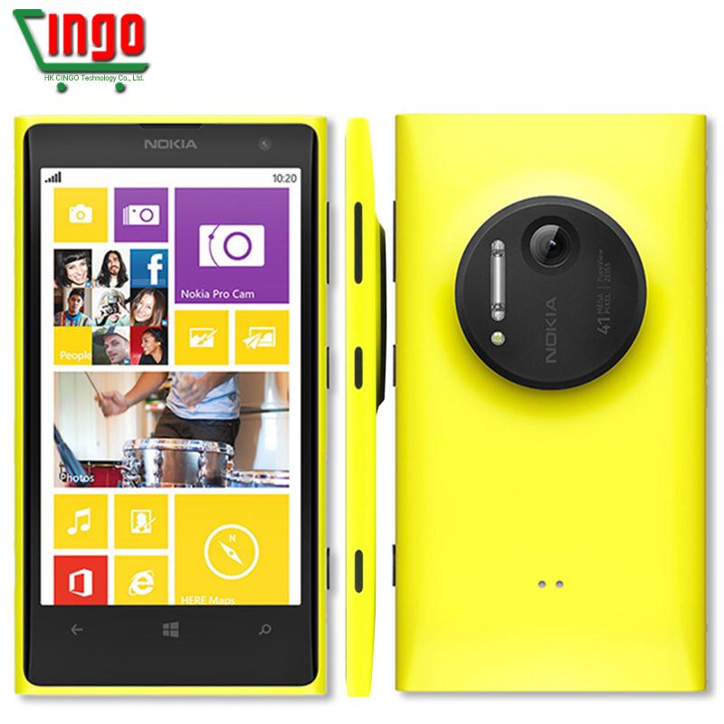 "Original Nokia Lumia 1020 Unlocked Nokia 1020 phone 41.0MP Camra 32GB ROM 2G RAM 4.5"" Touch screen Dual core Free shipping(China (Mainland))"