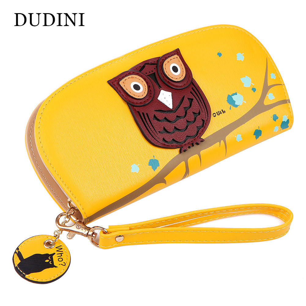 Free Shipping Cute Owl Stereoscopic Printing Rounded Zipper Long Women Wallet Ladies' Clutches Short Change Purses Card Holders(China (Mainland))