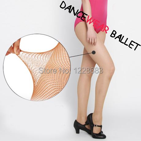 Free Shipping Wholesale Discount Candy Toffee And Black Women Spandex Cheap Basic Ballroom Latin Fishnet Dance Tights(China (Mainland))