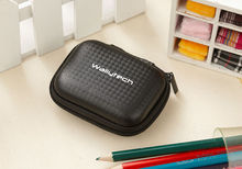 Wallytech New Black Hard Carry Storage Pouch Bag For Headphones Headsets Earphones Case(China (Mainland))