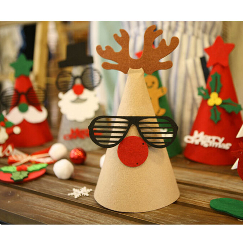 Diy Christmas Tree Table Decoration : Cute merry christmas healthy decoration red green gray diy
