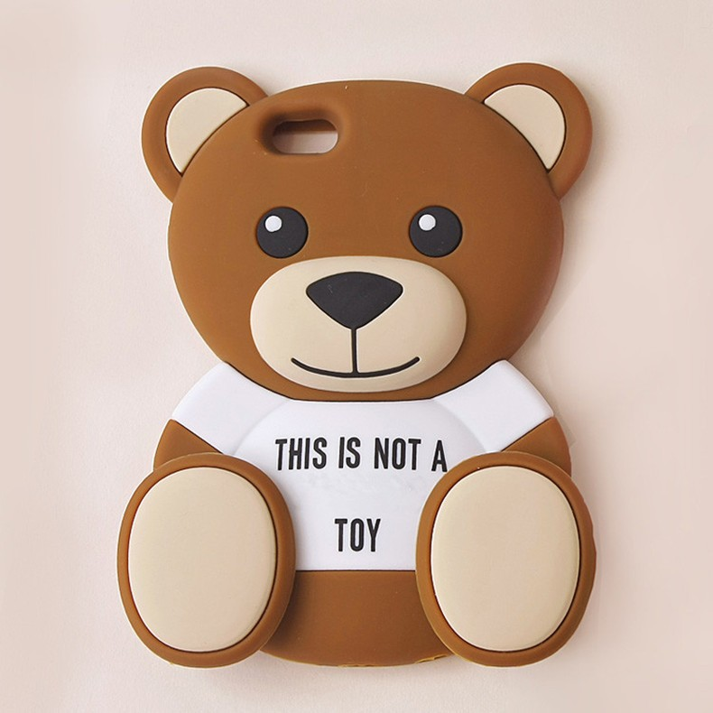 Cute Teddy Bear Skin Gel Silicone Rubber Case for iPhone 5 5s 6 6s 6 6s Plus Protective Mobile Phone Cover With Wholesale Price