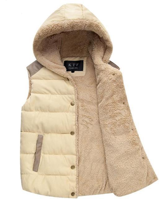 Жилеты жилет женские кардиганы зимняя куртка теплая женщины пальто возлагает с капюшоном ...