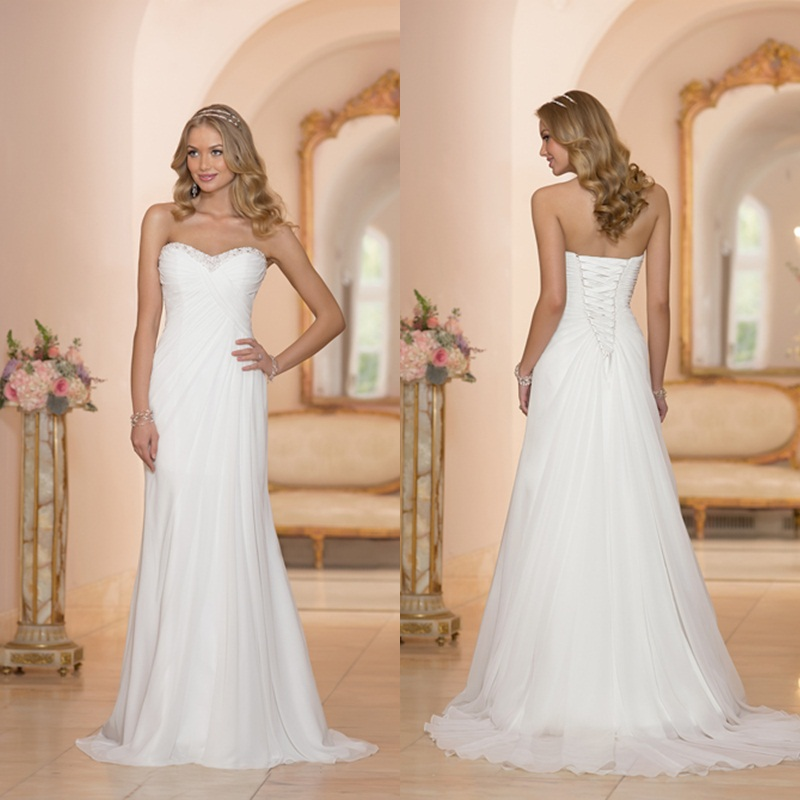 Buy 2016 sweetheart off shoulder pleats for Wedding dress for sale cheap