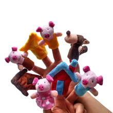 Buy 3Pcs Children Educational Fairy Tale Toy Plush Puppet Three Little Pigs Finger Puppet Kids Funny Toys Gifts kids for $2.72 in AliExpress store