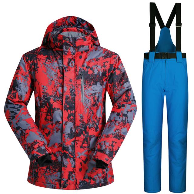 Лыжная одежда Дышащий и Водонепроницаемый Лыжная Куртка мужчины Зима Лыжный Костюм костюма Сноуборда