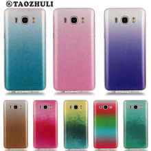 Samsung Galaxy J1 J3 J5 J7 2016 J120 J320 SM-J320F J510 J710 Case Bling Glitter Gradient Color Thin Soft Gel TPU Back Cover - Tesco Pioneers Co., Ltd store