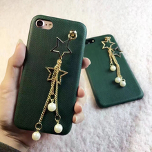 Buy New Luxury Stars Pearl Chain Pendant Cases iPhone 7 7plus 6 6S 6plus 6Splus 4.7''5.5'' i6 i7 PC hard cover phone shell for $5.70 in AliExpress store