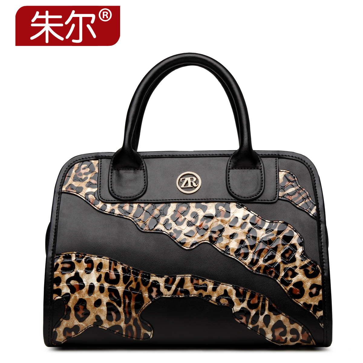 Fashion fashion cowhide women's handbag 2015 leopard print bags women's one shoulder handbag female