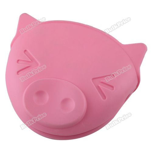 BulkPrice Shop Cute Pig Shape Kitchen Cooking Microwave Oven Mitt Insulated Non-slip Glove(China (Mainland))