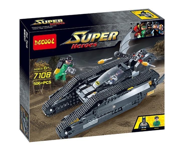 Decool 7108 506Pcs Building Blocks Super Heroes Avengers Age Of Ultron Minifigure Batman Green Lantern War Car Tank Brick figure(China (Mainland))
