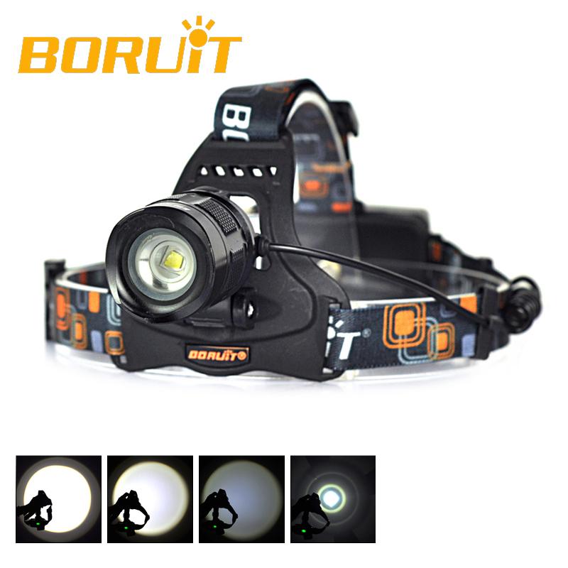 2000 Lumen Black Headlight XM-L T6 Linterna Frontal LED Head Light Flashlight Torch Lantern Zoomable Headlamp Hiking Camping<br><br>Aliexpress