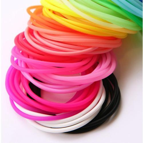 20 pcs/lot Elastic Rubber Silicon Headband Luminous Hair Clip Rope Ring Fluorescent Bangle Hand Accessories #46121