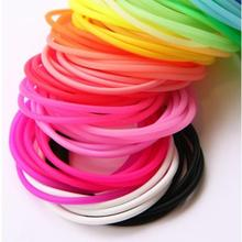 20 pcs/lot Elastic Rubber Silicon Headband Luminous Hair Clip Rope Ring Fluorescent Bangle Hand Accessories #46121(China (Mainland))