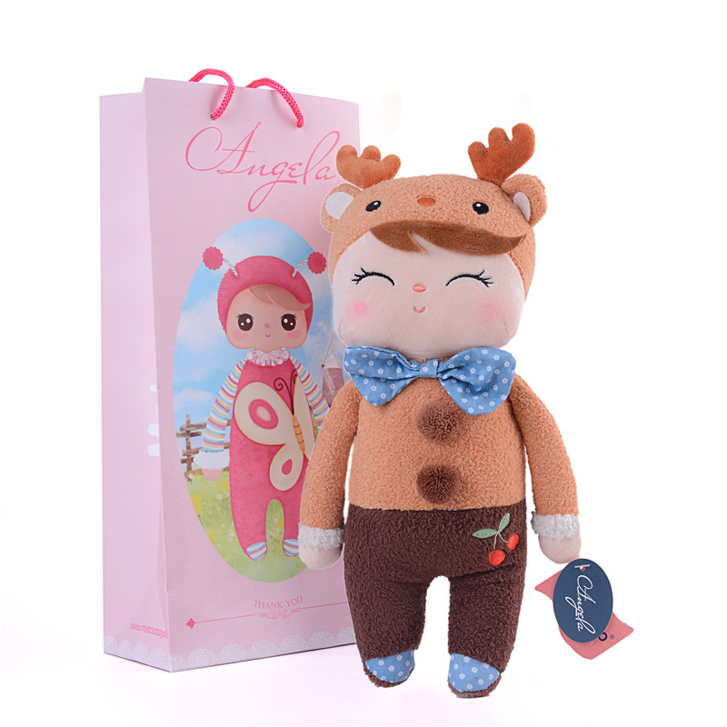 """METOO Plush Elk Toys Girl Grey Dolls Gifts for Kids Plush Stuffed Gift Toys with Gifts Box for Kids Best Birthday Gifts 12*4""""(China (Mainland))"""