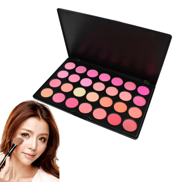 Professional 28 Colors Blusher Makeup Palatte Powder Blush Blinking And Graceful Powder(China (Mainland))
